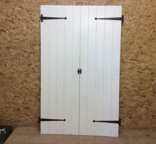White Ledge & Brace Double Doors