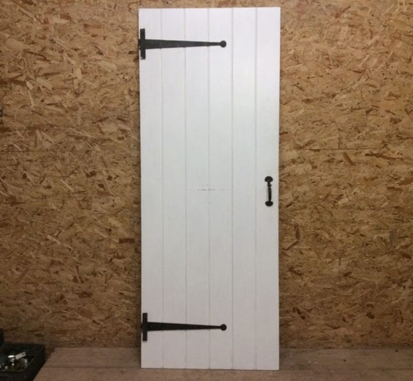 Large White Ledge & Braced Door