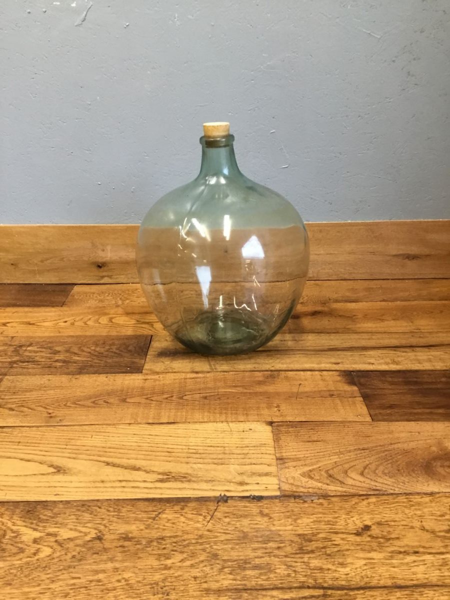 Round Glass Acid Jar & Stopper