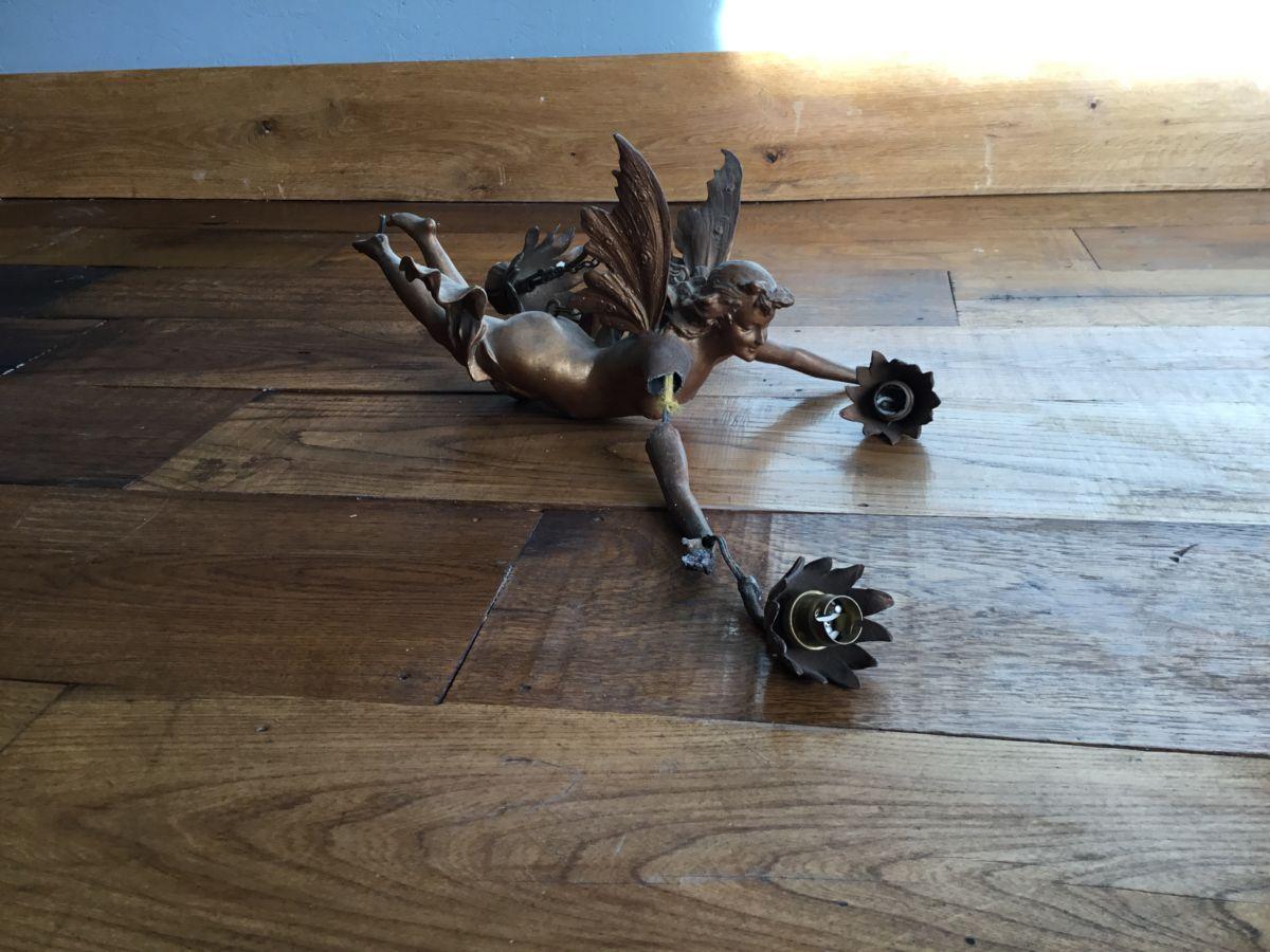 Reclaimed Angel Light Holder