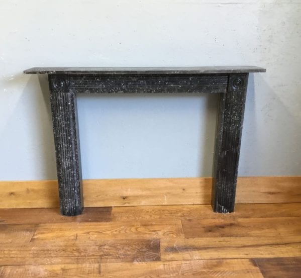 Rare Black Sussex Marble Fire Surround