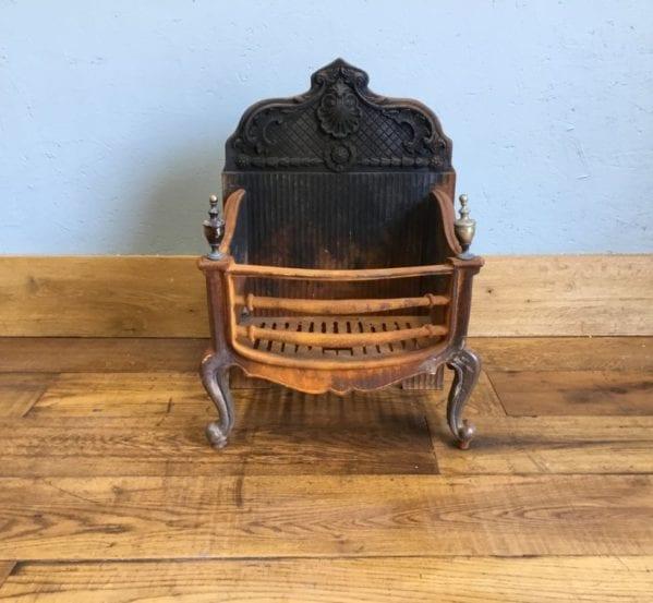 Large Cast Iron Fire Basket & Back