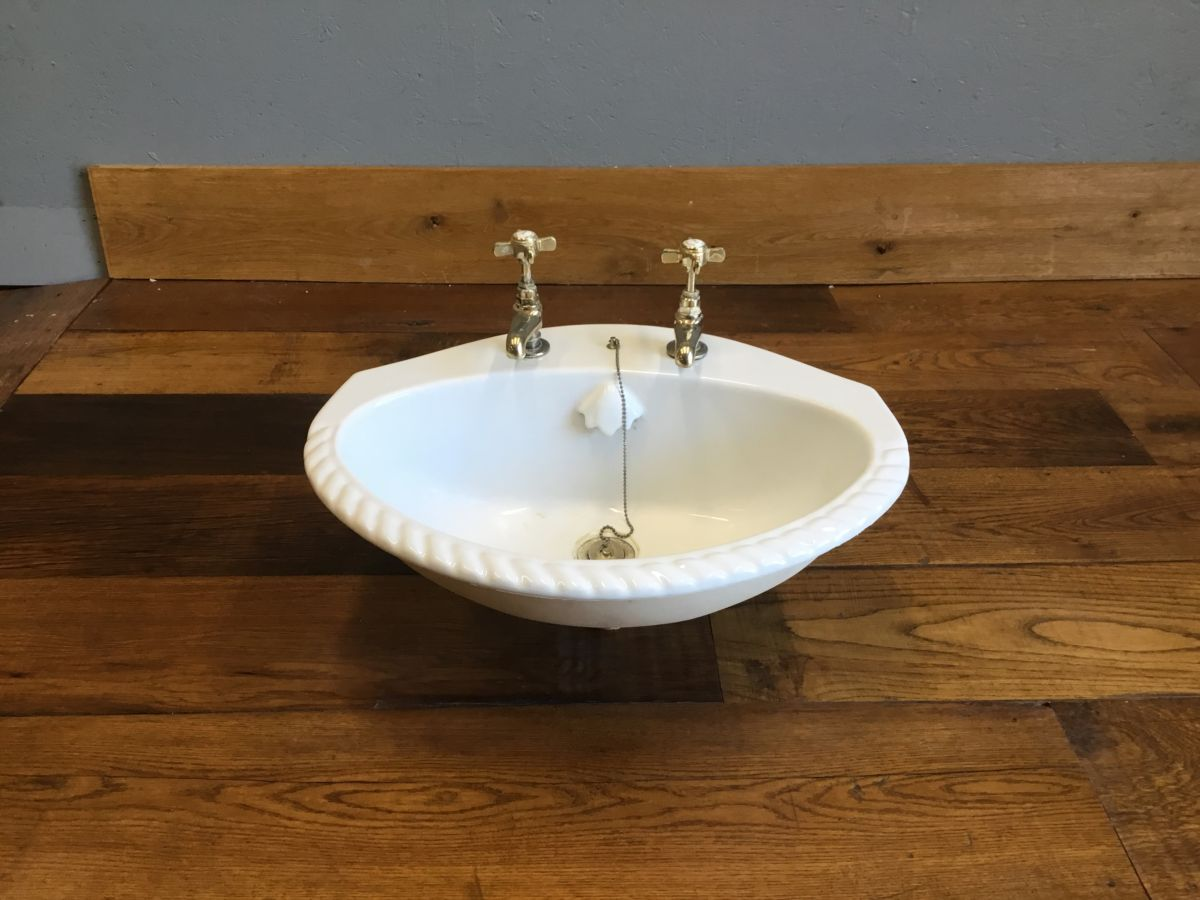 Rope Ribbed Edge Round Sink