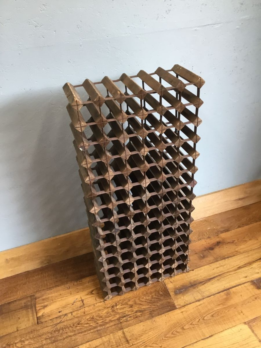 Slim Wood & Metal Wine Rack