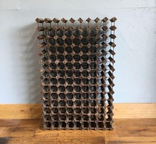Wide Wood & Metal Wine Rack