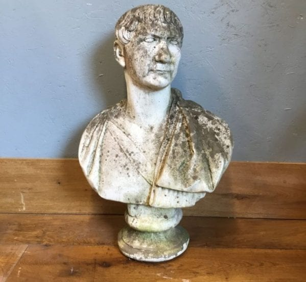 Stone Male Bust Head