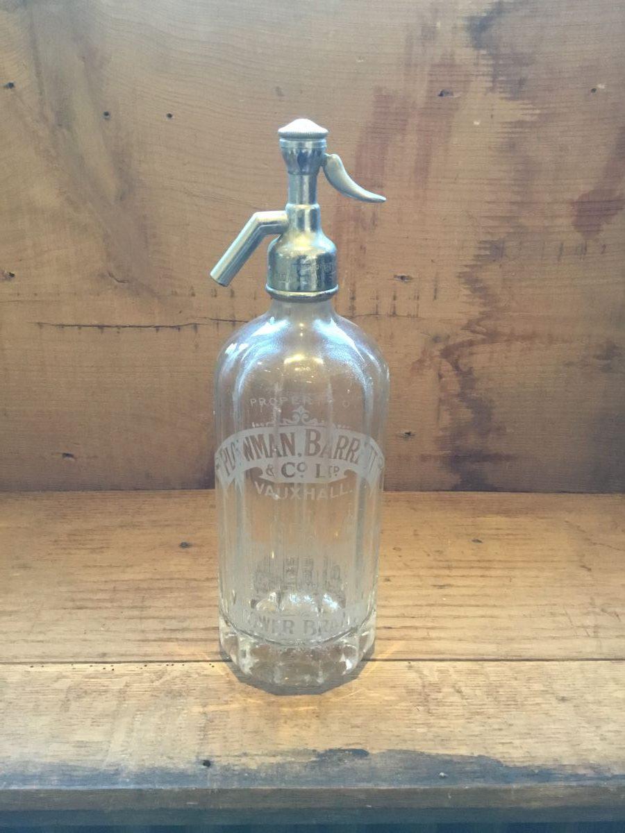 Plowman Barrett Glass Soda Syphon