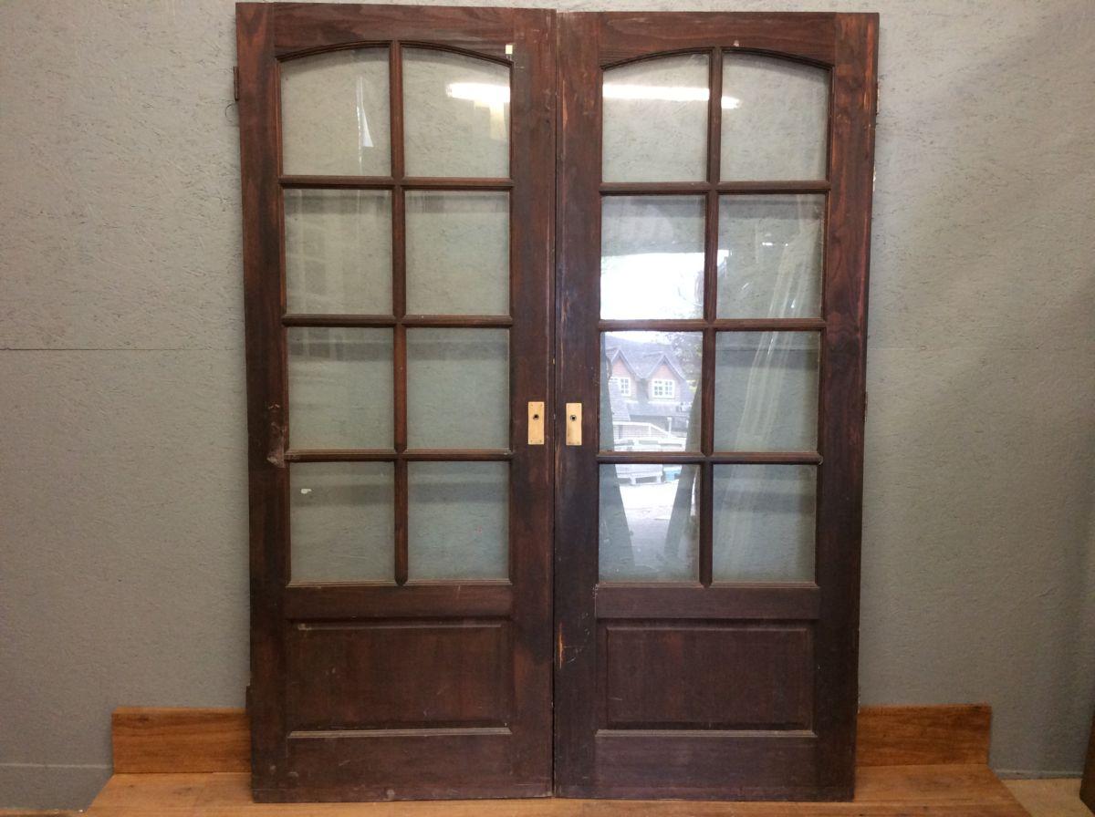 Half Glazed Dark Double Doors