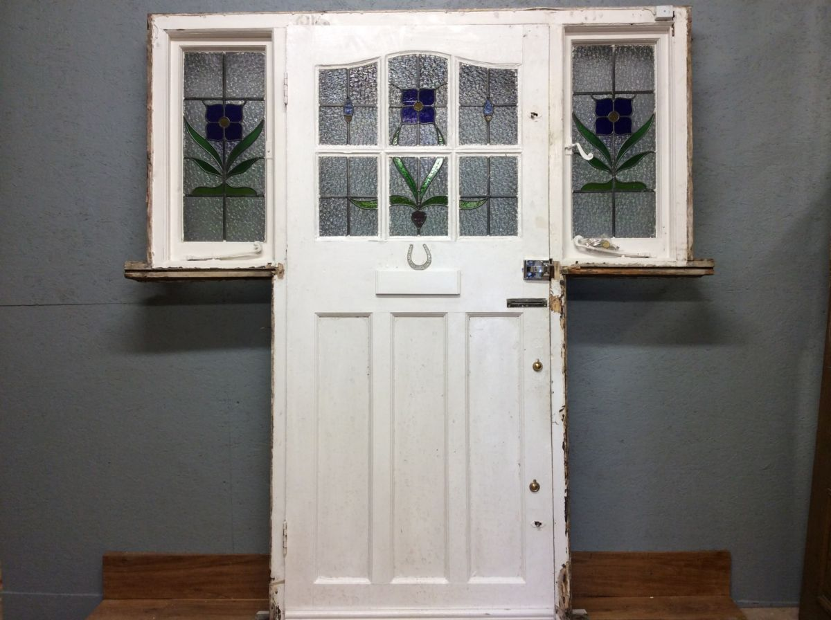 Stained Glass Front Door Amp Frame Authentic Reclamation