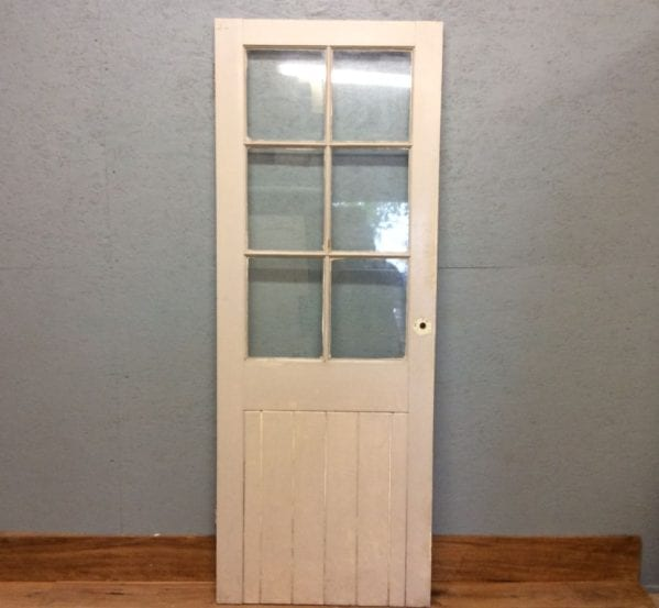 Grey Half Glazed Doors