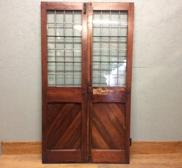 Lead Lined Half Glazed Double Doors