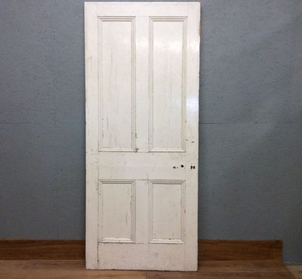 Big White 4 Panelled Door