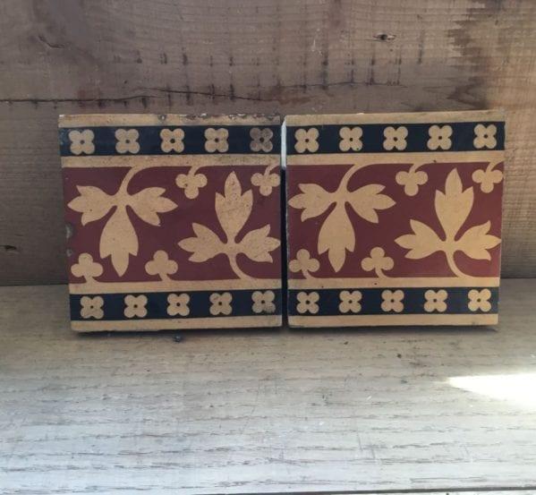 Minton Leaf Pattern Tiles