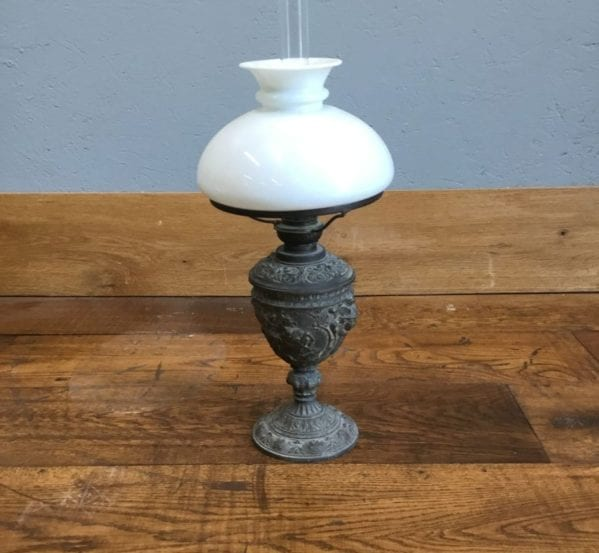 Glass Shade Gas Lamp