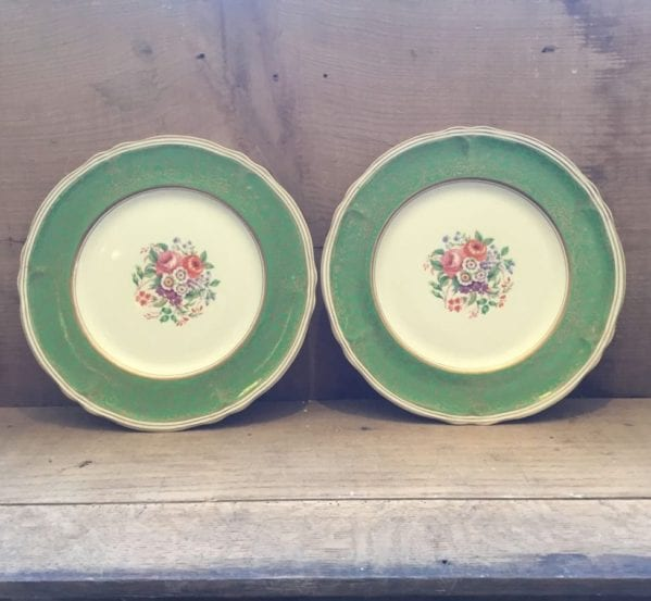 Grindley Creampetal Leamington Green Plates