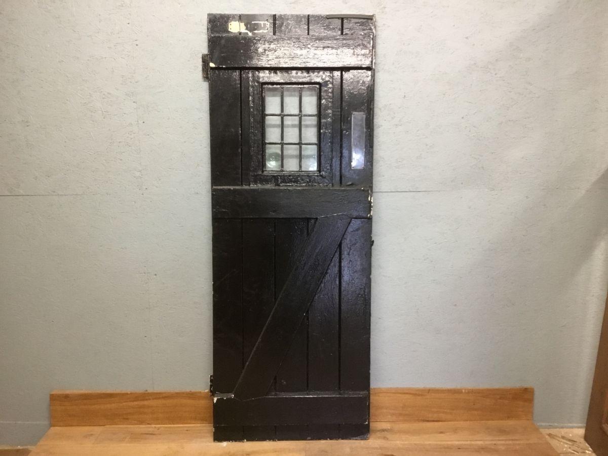 Black Glazed Ledge & Brace Door