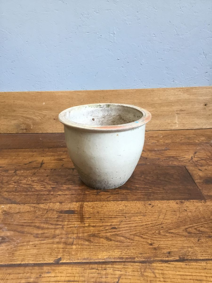 Cream Flower Pot