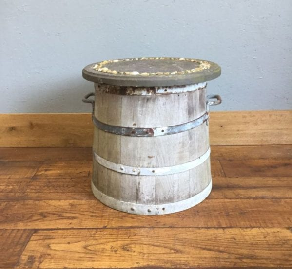 Barrel Table & Concrete Top