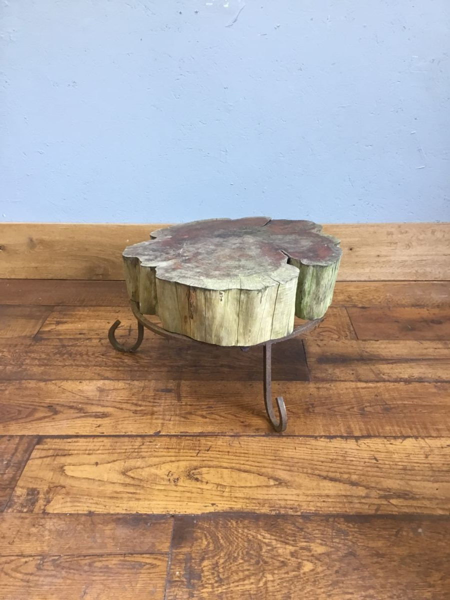 Low Wooden Slice Table