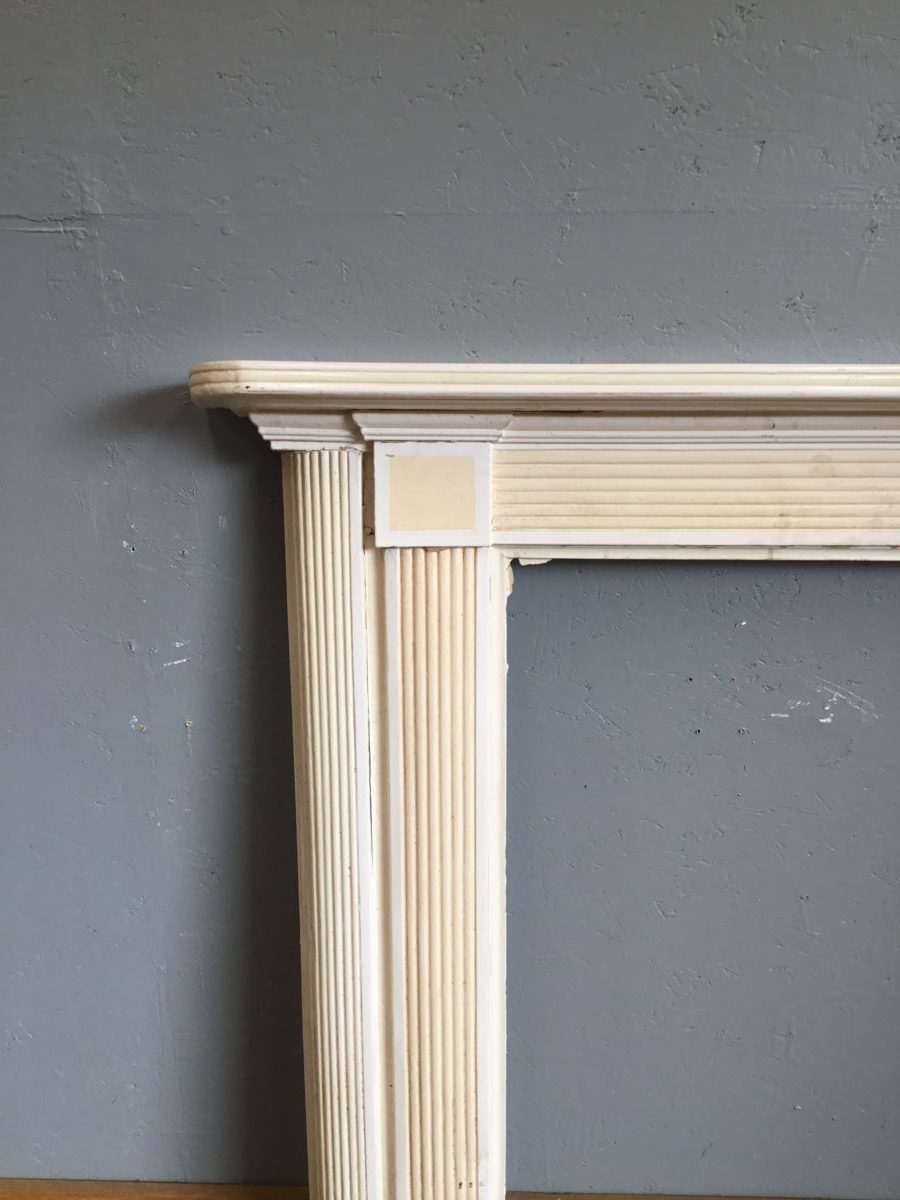 Ribbed Pattern Wooden Fire Surround