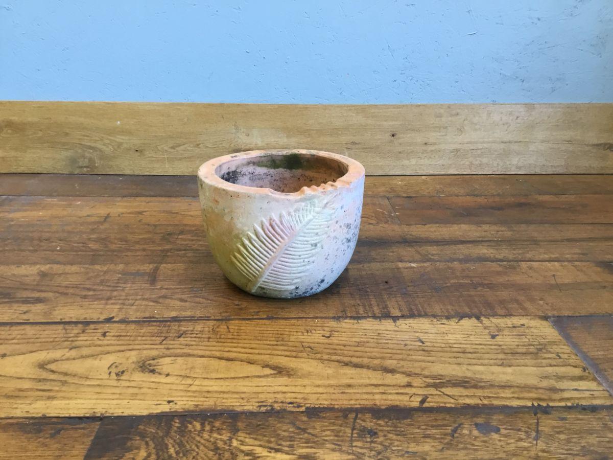 Fern Pattern Terracotta Planter