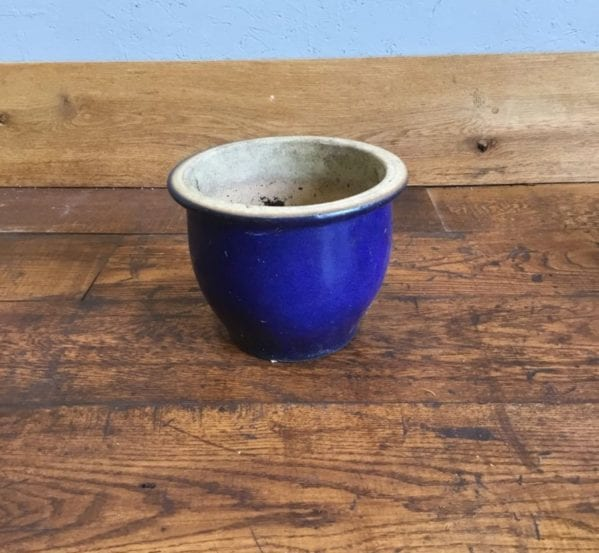 Small Blue Glazed Pot