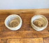 Wooden Barrel Effect Stone Planters