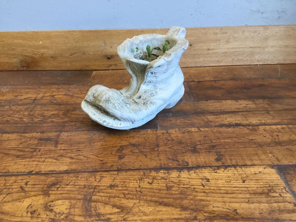 Concrete Boot Flower Pot