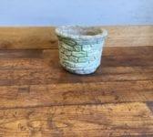 Brick Print Reconstituted Stone Pot
