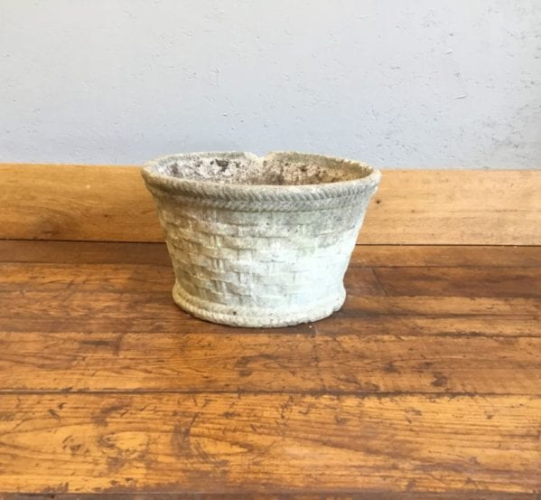 Wicker Print Stone Pot