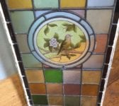 Hand Painted Colourful Bird Stained Glass Window Panel