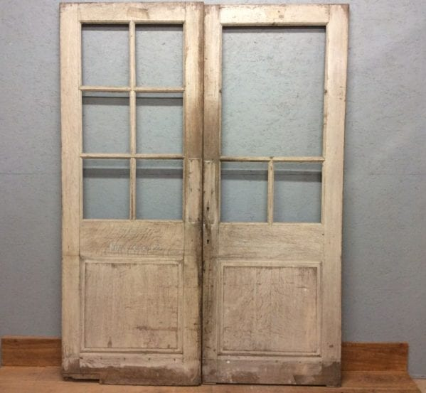 Half Glazed Oak Double Doors (no glass)