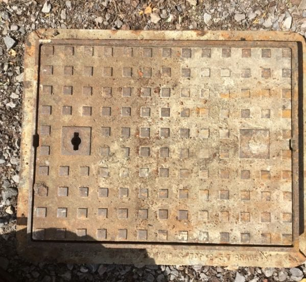 Large Cast Iron Reclaimed Man Hole Cover