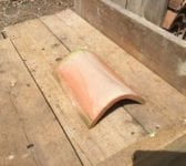 Orange Pressed Clay Half Round Ridge