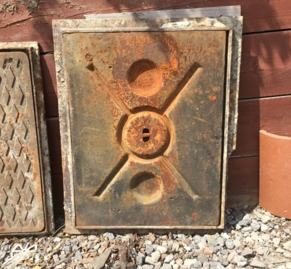 Unique Reclaimed Man Hole Cover