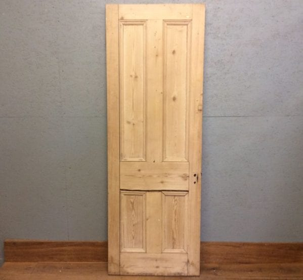 Stripped Rough Finish 4 Panelled Door