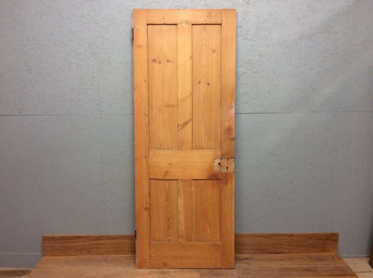 Smooth Stripped 4 Panelled Door