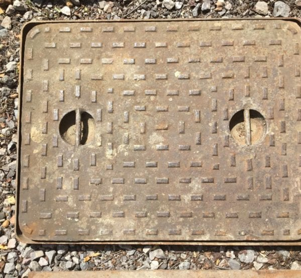 Double Handled Framed Man Hole Cover