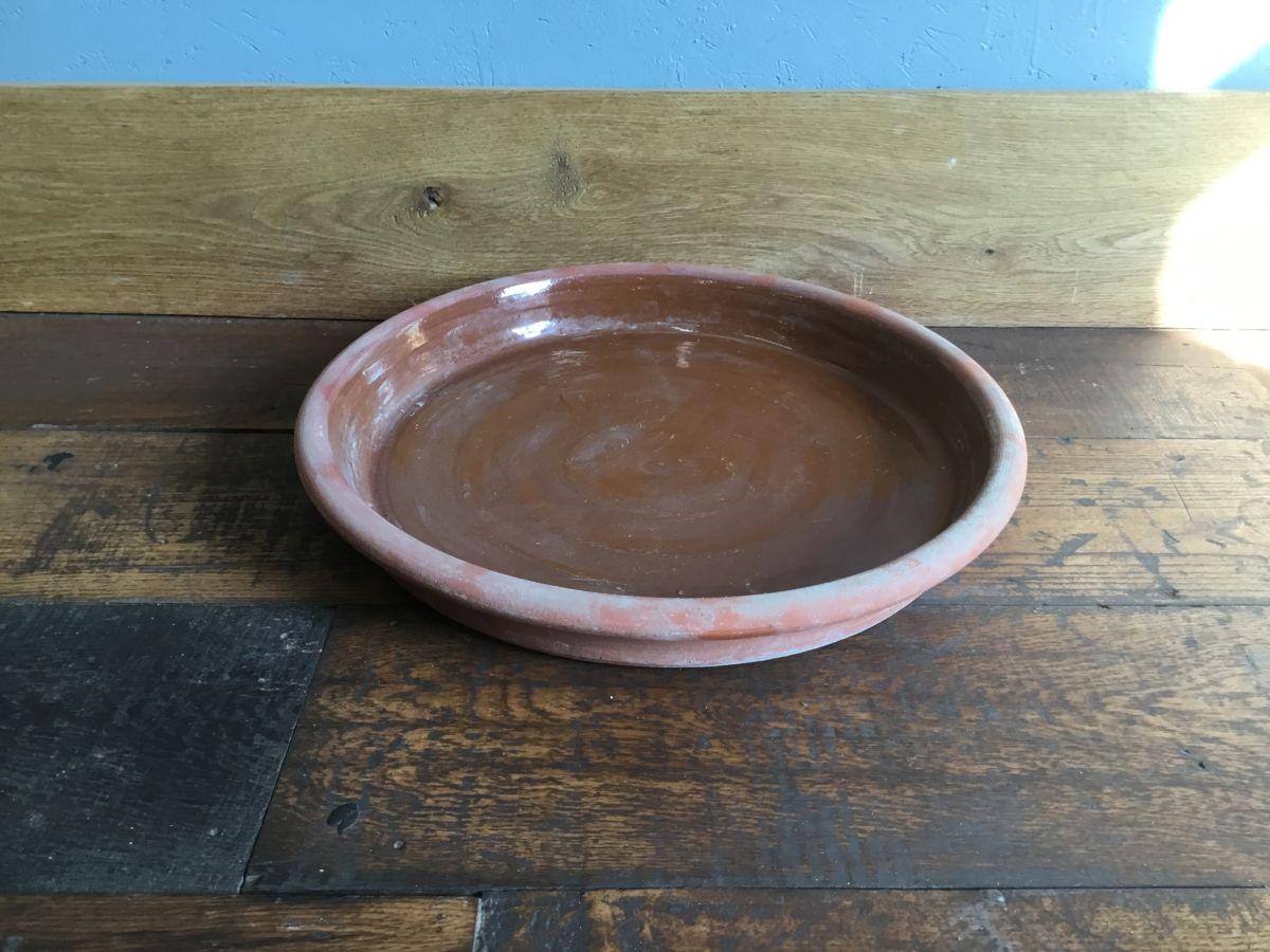 Brown Glazed Terracotta Pot Saucer