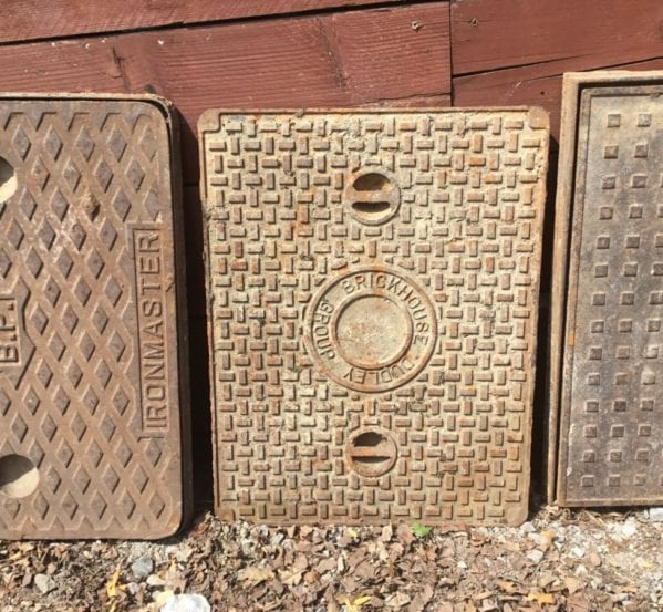 Reclaimed Textured Man Hole Cover