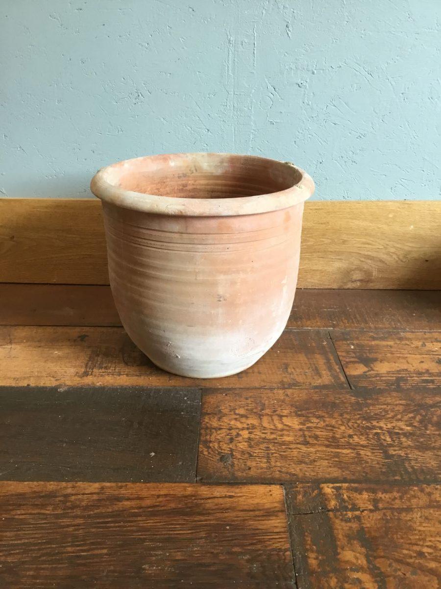 Wide Textured Terracotta Pot
