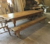 Ten Seater Farmhouse Table, Benches & Chairs