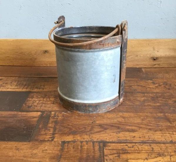 Galvanised Tin Bucket With Handle