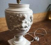 Porcelain Urn Shape Lamp Base