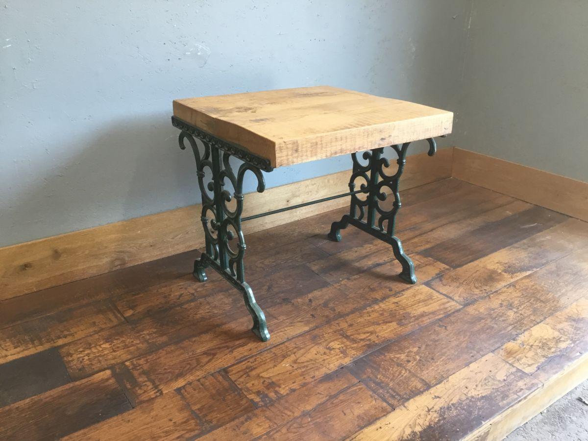 Up-Cycled Cast Iron Legged Oak Table