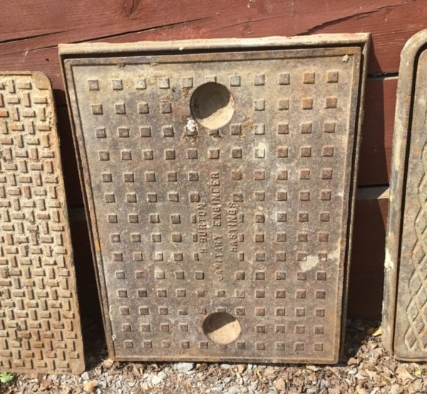 Cast Iron Reclaimed Handleless Man Hole Cover