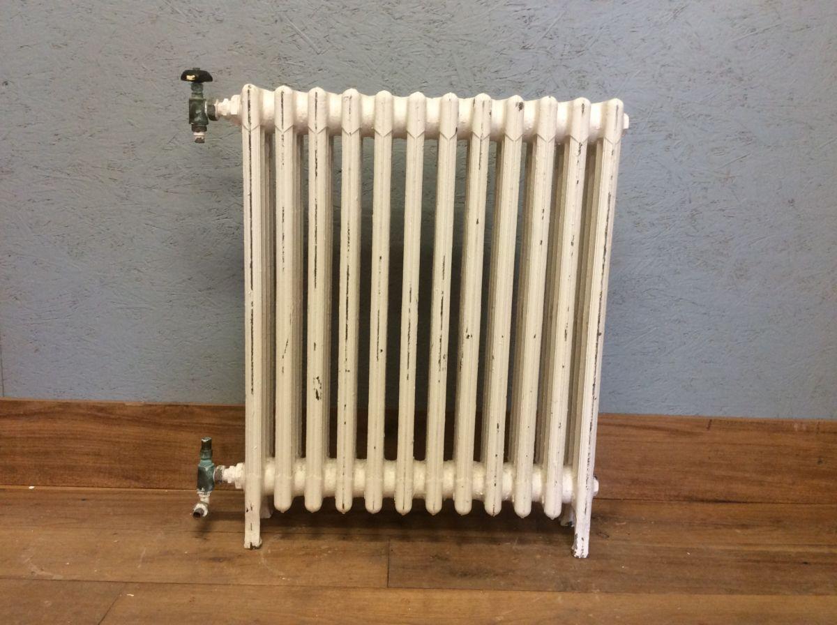 Medium-height White 4 Bar Radiator