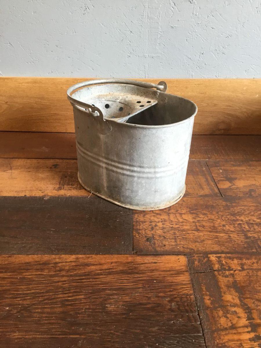 Galvanised Tin Mop Bucket