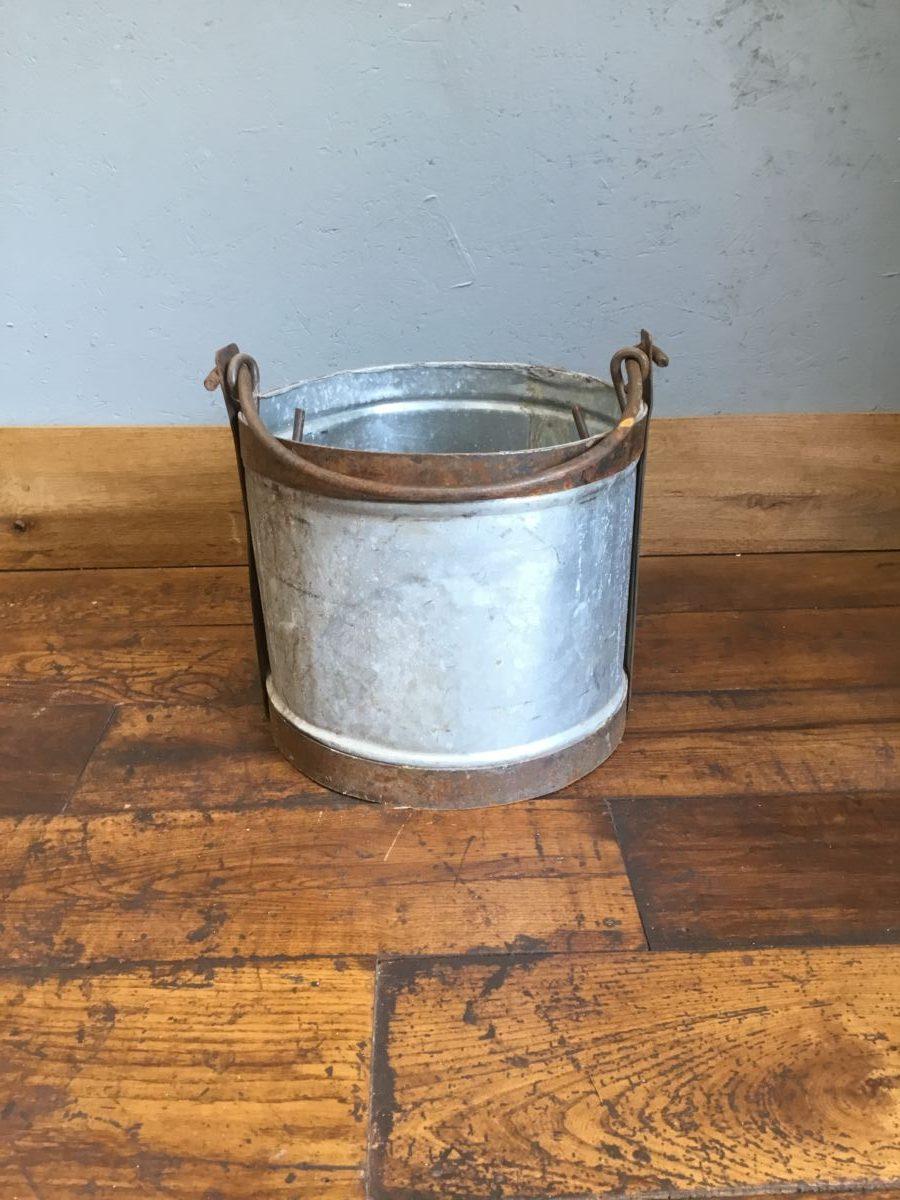 Copper Trim & Handled Bucket
