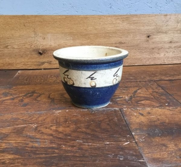 Small Hand Painted Pot